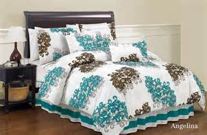6pc angelina king comforter set duck river bed brown and