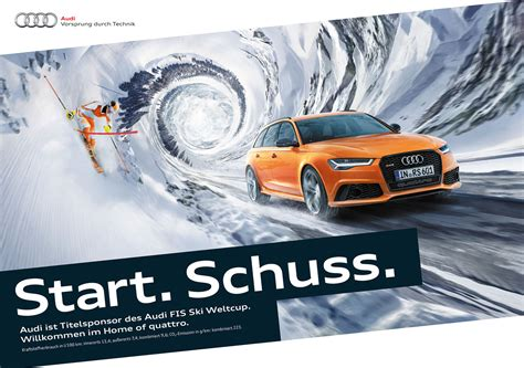 Audi Sport Werbung by Kolle Rebbe 171 Audi Quattro Skigebiets Kagne 187 Seilers