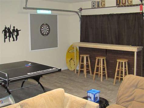 garage garage room and garage makeover on pinterest custom dart board home made countertop bar ping pong