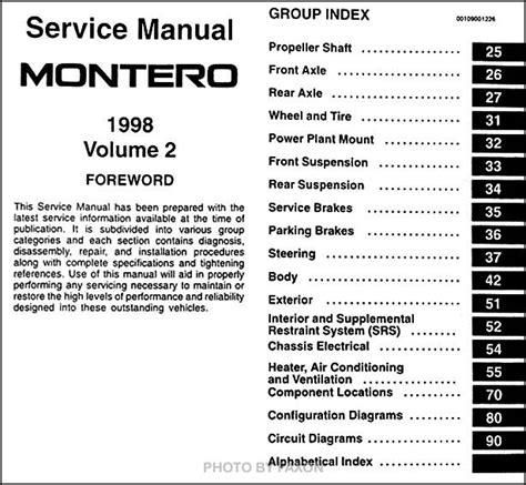 service manual free car repair manuals 1996 mitsubishi montero regenerative braking shop