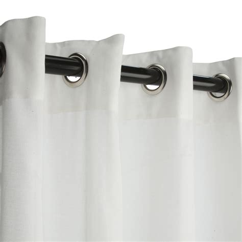 sunbrella curtains with grommets sheer snow sunbrella nickel grommeted outdoor curtain
