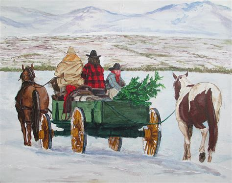 western christmas print by andrew hench