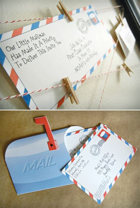 bday invitation mail a quot class quot post office inspired birthday hostess with the mostess 174