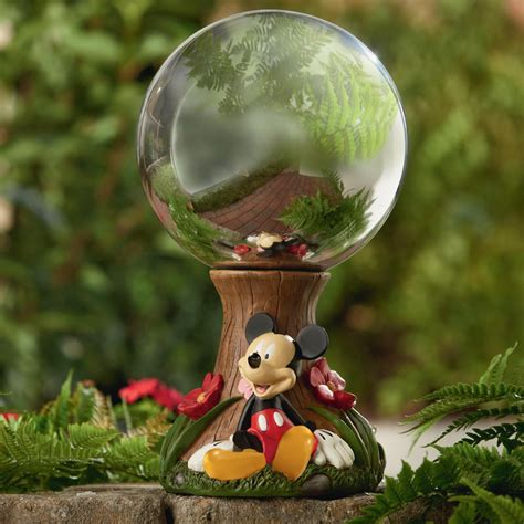 disney 10 quot mickey gazing outdoor living outdoor decor lawn ornaments statues