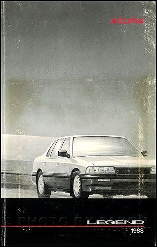 book repair manual 1988 acura legend auto manual 1988 acura legend owners manual original 4 door sedan