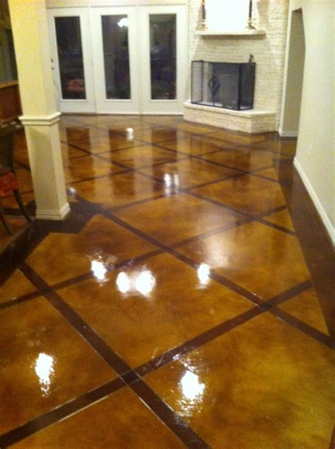 decorative concrete overlay in flower mound tx