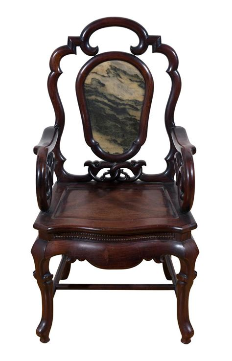 chinese armchair a chinese armchair with a marble inset back ching dynasty l