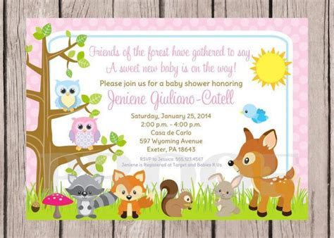 Forest Animal Baby Shower by Printable Woodland Forest Animals Baby Shower Invitation