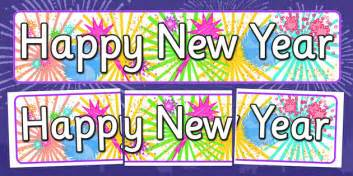 new year twinkl happy new year display banner happy new year display