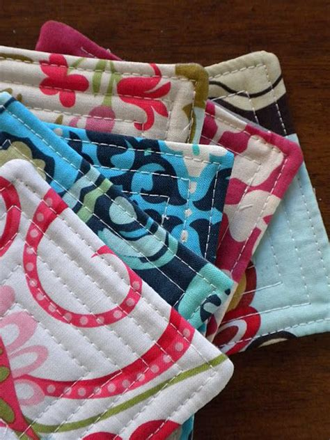 free pattern quilted coasters quilted coaster tutorial new craft works