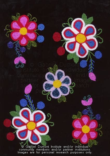 flower pattern history the virtual museum of m 233 tis history and culture beading