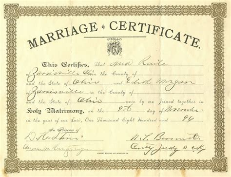 Search Marriage Records Marriage Certificate Images