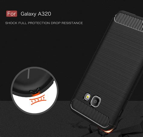 Carbon Black Casing For Samsung A7 2017 bakeey carbon fiber brushed dissipating heat soft tpu for samsung galaxy a3 a5 a7 2017