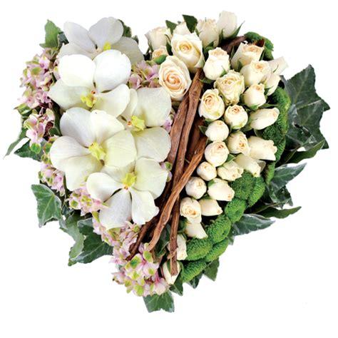 coussin de fleurs deuil les coeurs fleurs deuil