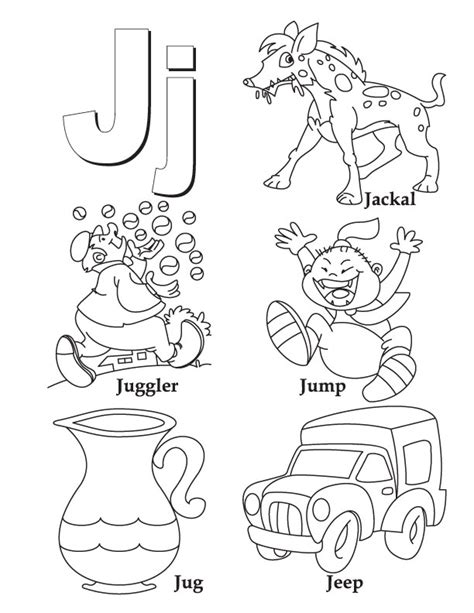 j is for coloring pages