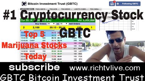 Buy Stocks With Bitcoin 5 by Top Cryptocurrency Stock Of 2018 Gbtc Bitcoin Investment