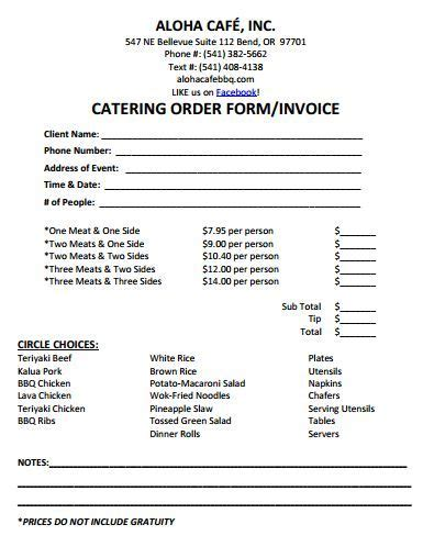 Catering Invoice Template 7 Catering Materials Pinterest Catering Template And Catering Ideas Buffet Contract Template