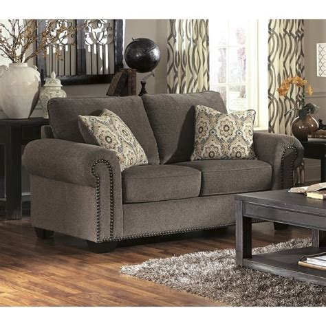 emelen sofa and loveseat ashley emelen chenille loveseat in alloy 4560035