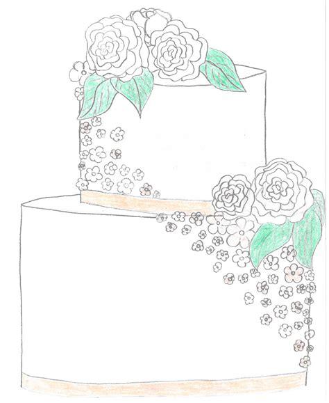 Hochzeitstorte Zeichnen by Cakes Unlimited