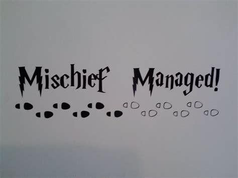 mischief managed tattoo harry potter inspired mischief managed decal sticker for
