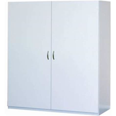 Home Depot Storage Cabinets White by Closetmaid 80 In H X 48 In W X 16 In D White Melamine