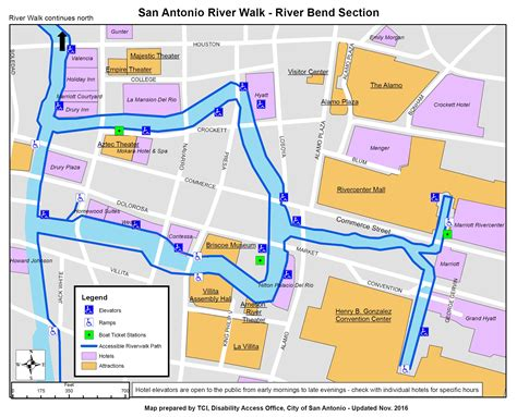 information on disability access on the san antonio riverwalk
