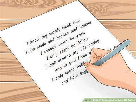 Heartfelt Apology Letter To Ex 3 Ways To Apologize To Your Wikihow