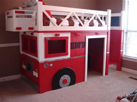 Diy Fire Truck Bunk Bed The Owner Builder Network Fireman Bunk Bed
