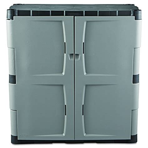 Rubbermaid Plastic Storage Cabinet Rubbermaid Resin Storage Cabinet Base Fg708500michr New Ebay