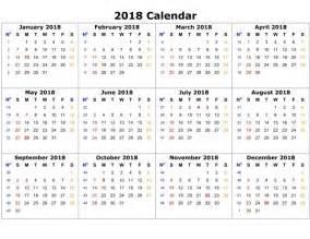 Calendar 2018 Docx 2018 Printable Calendar Word 2018 Calendar Printable