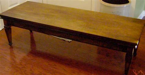 coffee table into a bench vintage junky creating character how to turn a coffee