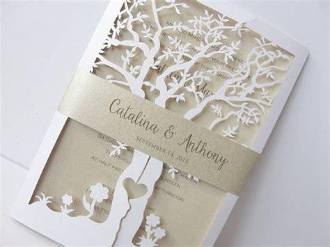 laser cut tree wedding invitations fall wedding invitation laser cut tree wedding by
