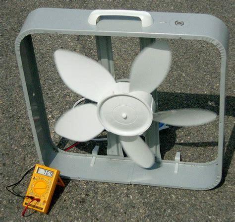 Ceiling Fan To Wind Generator by Box Fan Wind Turbine