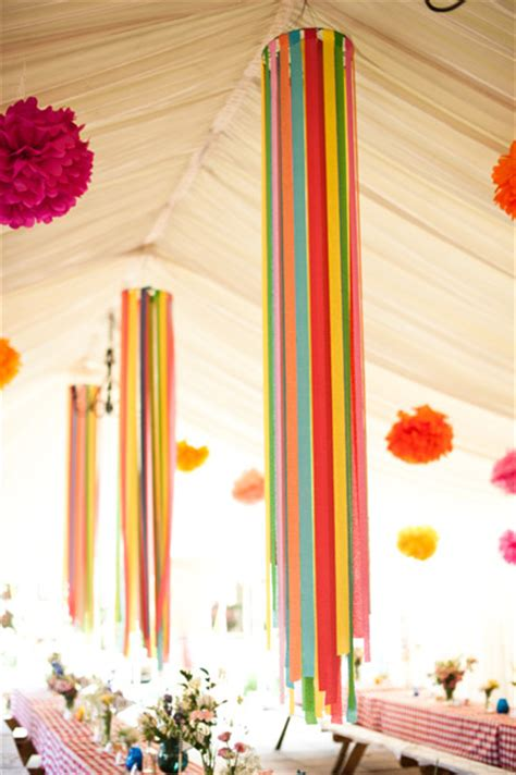 Make Crepe Paper Decorations - be different act normal crepe paper streamers