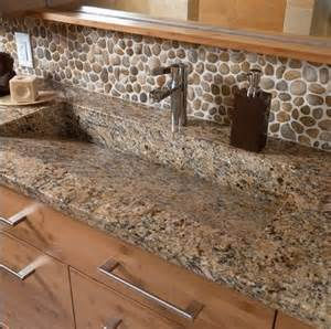 river rock bathroom ideas river stone back splash bathroom back splash ideas