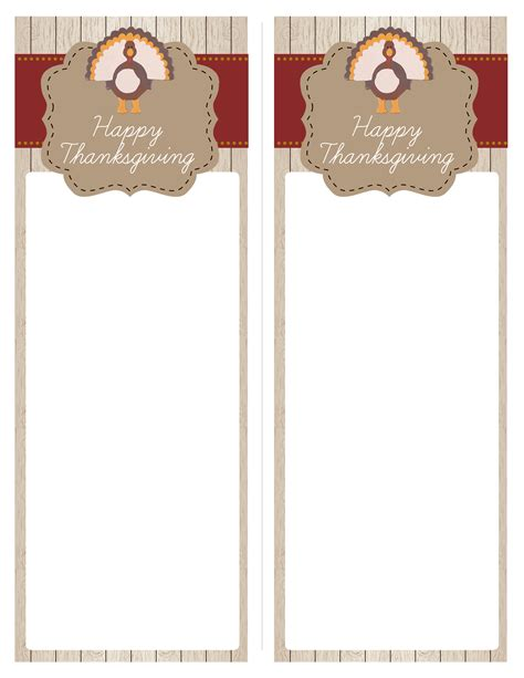 thanksgiving menu cards templates thanksgiving free printables how to nest for less