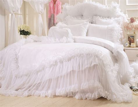 best 28 white satin comforter set white lace bedding