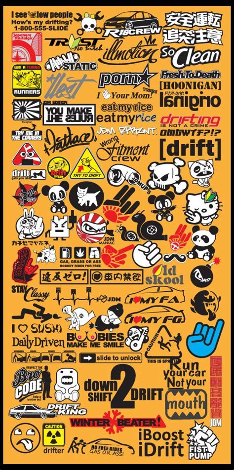 popular jdm car decal stickers