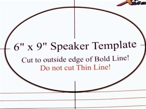 6x9 Speaker Template by 6 215 9 Speaker Template Articleezinedirectory