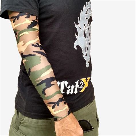 tattoo cover up tape green camouflage arm sleeves for covering up tattoos ink