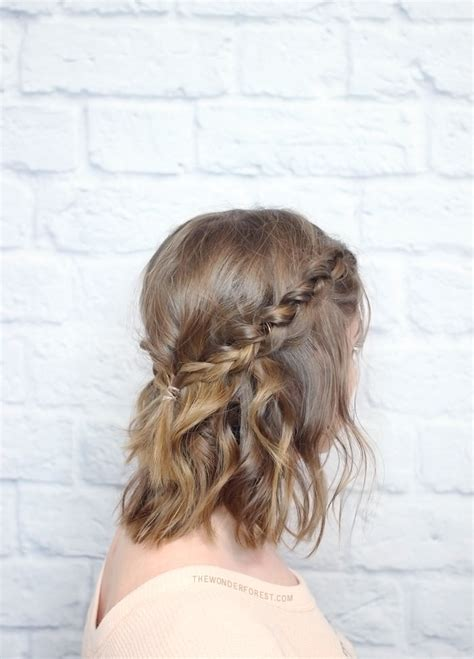 braids hairstyles tutorial for medium hair messy braided crown for shorter hair tutorial wonder