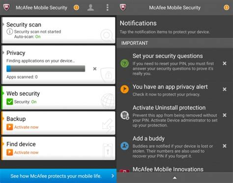 mcafee for android best free android antivirus comparison