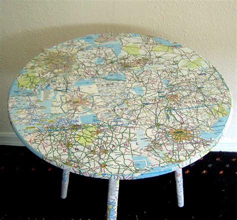 Decoupage Map Paper - cadlow vape world how to decoupage furniture diy paper