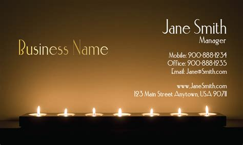 candle business cards templates candle business card ideas best business cards