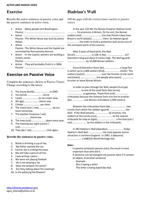 Active And Passive Voice Worksheets by 11 Best Images Of Active Passive Voice Worksheet Active