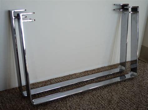 chromed steel sleigh table legs julesmoderne
