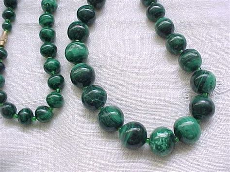 malachite bead necklace fantastic malachite bead necklace large from