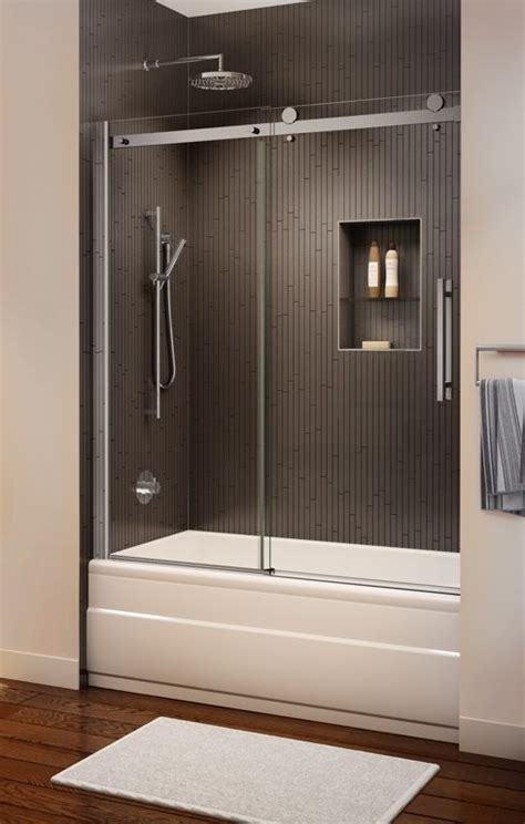 glass enclosures for bathtubs 25 best ideas about sliding shower doors on pinterest