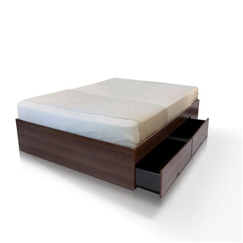 modern walnut bed base with 4 large drawers buy size bed base