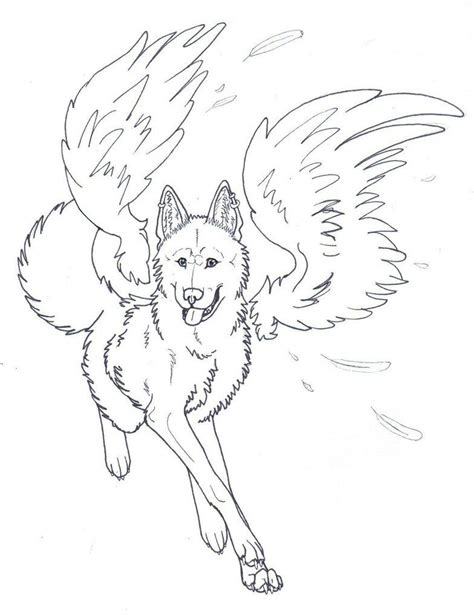 Wolves With Wings Coloring Pages Coloring Home With Wings Coloring Pages